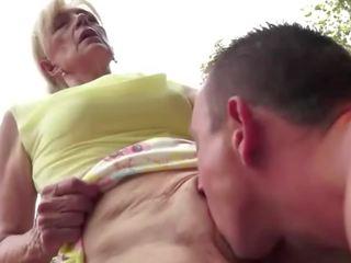 meest cum in de mond gepost, het eten video-, vol oma