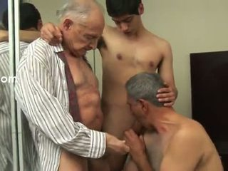 zien homo-, heetste oud scène, anaal