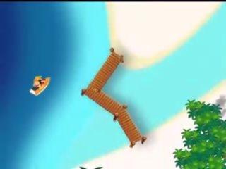 cartoons tube, ideaal vakantie, gratis tropical