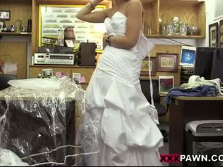 Honey pawns her wedding gown and pounded
