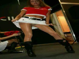 Motorshow κορίτσια candid, μπανιστηριτζής, κάτω από την φούστα, see-thru