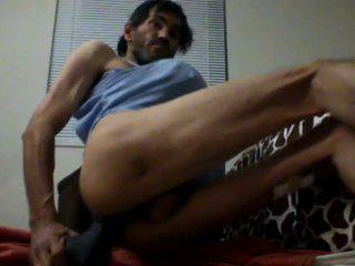 Crossdresser Asian fucking with dildo