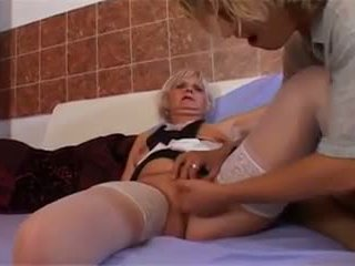 Lucky Young Man Fucking Granny, Free Young Fucking Porn Video