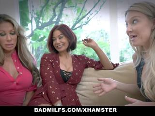 Badmilfs - Horny MILF Shares Huge Cock with Friends...