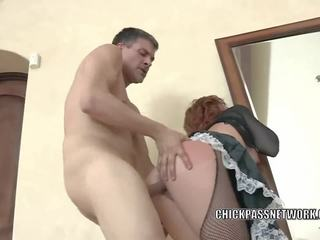 Brooklyn Lee is bouncing on a stiff cock