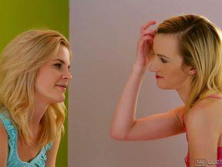 blondjes, heet tieners video-, controleren lesbiennes mov