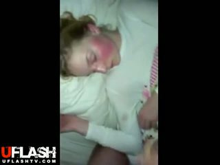 Sleeping Girlfriend Facial Cumshot Real Blonde Amateur Teen Cum
