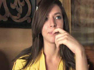 Medeline superb brunette girl public flashing tits