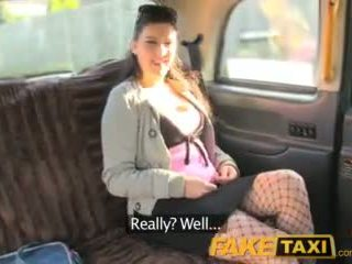 FakeTaxi Back seat anal with hot euro babe