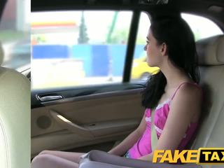 Fake Taxi Brunette screams on big cock