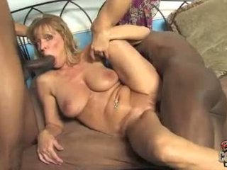 Mature Nicole Moore fuck two black cock