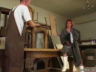een oud klem, gilf, heet ouder porno
