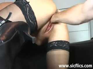 Brutally Fisting The Wifes Monster Pussy