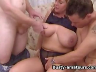 Busty Amateur Mindy Jo on Hot Threesome, Porn 94