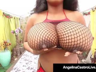 Thick Latina Angelina Castro Pussy Fucks Black BBW...