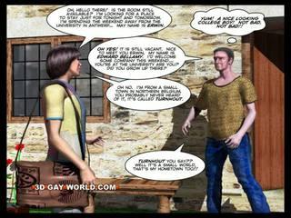 Pokój na wynajem 3d gej animated kreskówka comics