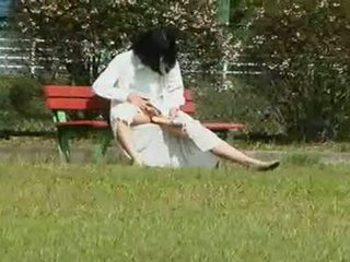 A Japanese Wife Is A Masturbation Outdoors
