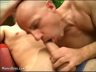 Two hung b-ys uncovering bald dad?s true gay