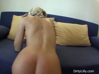 Sexy busty blonde with braids gets hardcore sex action