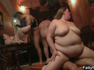party sex, alle bbw gangbang vid, kwaliteit bbw group porno