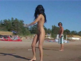 u strand neuken, mooi eigengemaakt vid, publiek scène