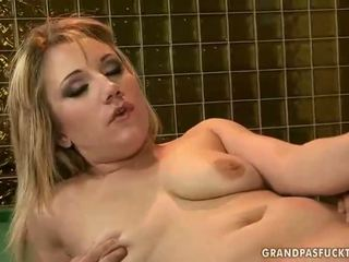 Amabella enjoys hot sex with old man
