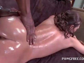 Hot ass brunette nymph goes interracial