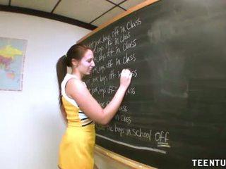 Teen Student Jerks Off Her Teacher