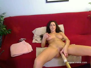 fucking machine, webcam, masturbation