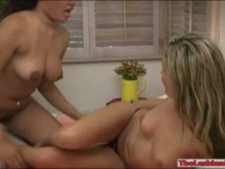 Two Kinky Ladies Prinzzess And Annie Lesbian Sex On The Bed