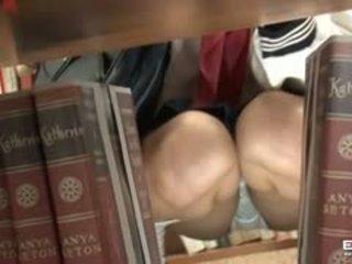 Pervert guy fucks kancık kuliste şirret içinde the kütüphane