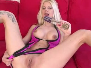 Inked babe shagged by bunch of dicks