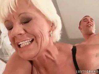 kwaliteit zuigen, hq oud scène, online grootmoeder film