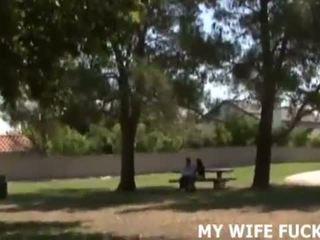 راقب أنت زوجة قرع ل كبير cocked stranger