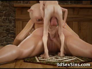 3d hobbits 和 tentacles 他媽的 女孩!