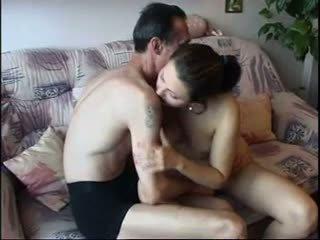 Oldman كبير كوك إلى شاب ممثلة, حر الاباحية 47