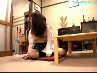 طالب, شاب, اليابانية, فتاة