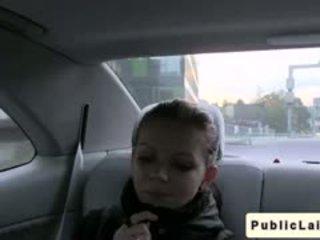 Redhead Czech Babe Blowjob In Car In Public