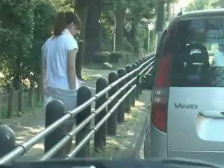 สีน้ำตาล, ญี่ปุ่น, สาวใหญ่, voyeur