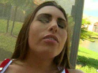 Renna ryann kedves vöröshajú lány öklözés és toying punci által an ax