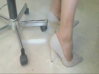 beste voet fetish scène, heetste kousen vid