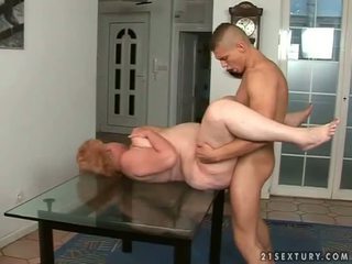 Fat granny gets fucked hard by young man
