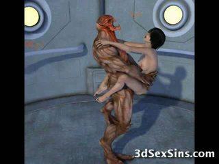 Creatures souložit 3d scifi babes!