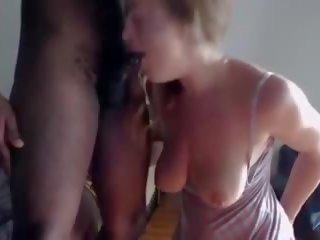 mooi hoorndrager porno, plezier interraciale neuken, zwart