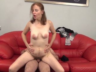 Cute hairy whore working hard for hot jizz