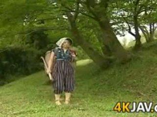 japanse film, wijnoogst gepost, plezier buiten- neuken