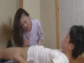 brünette spaß, oral sex, japanisch voll
