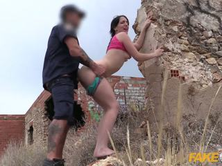 Fake Cop Peachy arsed Spanish babe fucks policeman