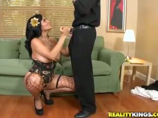 Giant boobs babe Kiara Mia sucking and fucking