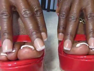 zwart en ebony thumbnail, u voet fetish kanaal, nominale femdom kanaal